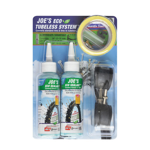 Tubeless tiivistyssarja JOE´S Eco, Presta, 17-19mm vanteille