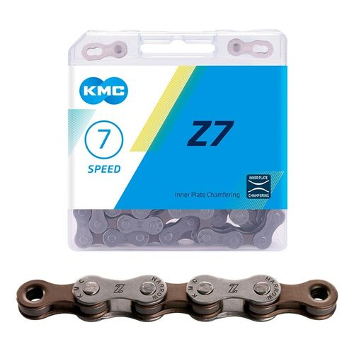 "Ketju 6/7/8-v KMC Z7 Grey/Brown, 1/2 x 3/32"", 114L"